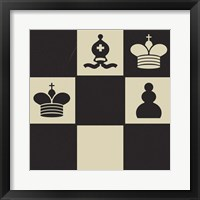 Chess Puzzle II Framed Print