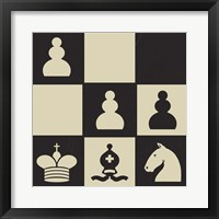 Chess Puzzle III Framed Print