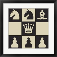 Chess Puzzle IV Framed Print