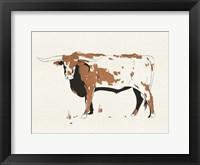 Terre Cotta Steer IV Framed Print