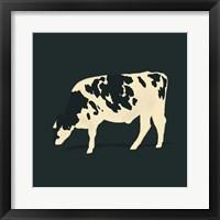 Refined Holstein VI Framed Print