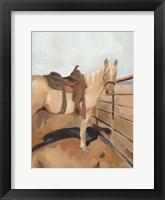 Range Horse I Framed Print