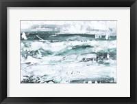 Misty Waves II Framed Print
