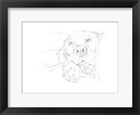 Lazy Dog I Framed Print