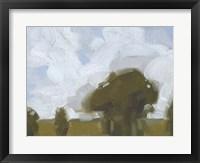 Brushy Summer Sky I Framed Print