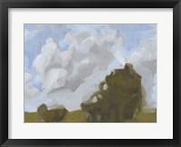 Brushy Summer Sky II Framed Print