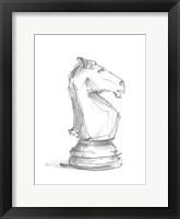 Chess Piece Study I Framed Print