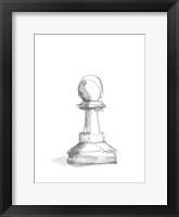 Chess Piece Study VI Framed Print