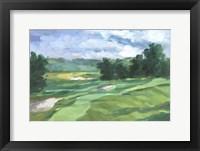 Golf Course Study IV Framed Print