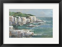 White Sea Cliffs I Framed Print