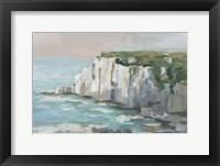 White Sea Cliffs II Framed Print