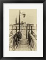 Vintage Venice II Framed Print