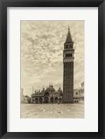 Vintage Venice III Framed Print