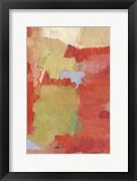 Bright Costa I Framed Print