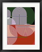 Graphic Colorful Shapes I Framed Print