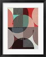 Graphic Colorful Shapes II Framed Print