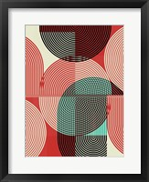 Graphic Colorful Shapes III Framed Print