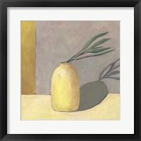 Yellow Vase I Framed Print