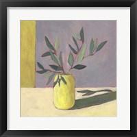 Yellow Vase II Framed Print