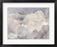 Clouds in Neutral I Framed Print