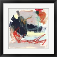 Abstract Metro Maps IV Framed Print