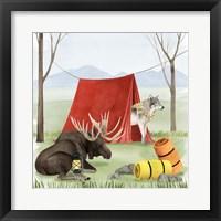 Camp Crashers II Framed Print
