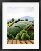 Tuscan Valley Sketch I Framed Print