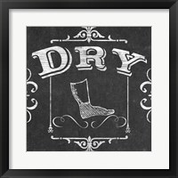 Vintage Laundry Signs III Framed Print