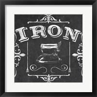 Vintage Laundry Signs V Framed Print