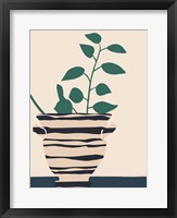 Dancing Vase With Palm II Framed Print