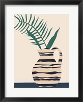 Dancing Vase With Palm III Framed Print