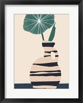 Dancing Vase With Palm IV Framed Print
