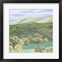 Hill Lines III Framed Print