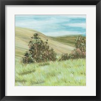Hill Lines IV Framed Print