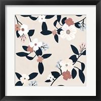 Pink Petal Branch I Framed Print