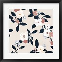 Pink Petal Branch II Framed Print