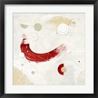 Galassia # 3 (Rosso) Framed Print