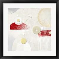 Galassia # 4 (Rosso) Framed Print