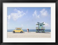 Framed Waiting for the Waves, Miami Beach
