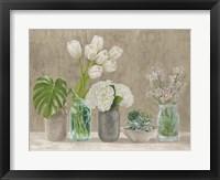 Spring Arrangement I (neutral) Framed Print
