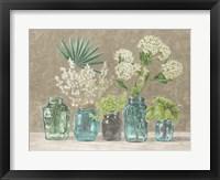 Spring Arrangement II (neutral) Framed Print