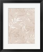 White Leaves 1 Framed Print