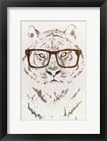 Framed Hipster Tiger