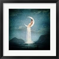 Framed Moon River Lady