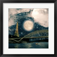 Framed One Starry Night in Paris