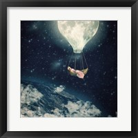 Framed Moon Carries Me Away