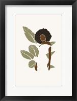 Boho Bird of Paradise Leaves I Framed Print