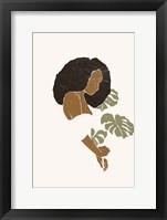 Boho Monstera Leaves I Framed Print