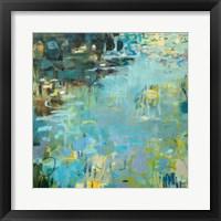 Framed Tidal Pool In Blue