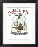 Comfort and Joy Cabin Framed Print